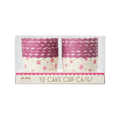 12 cake cup cases lila